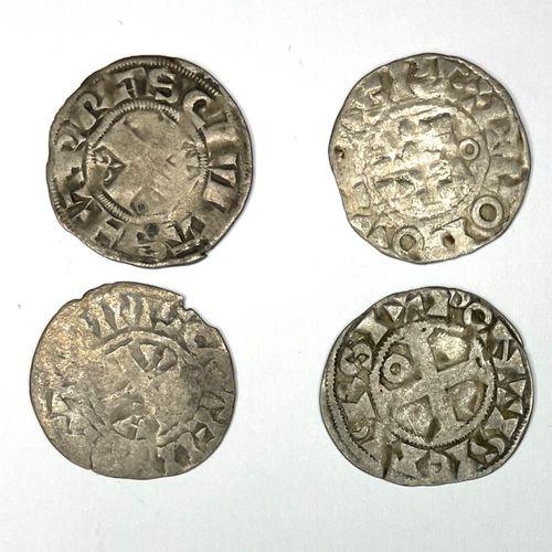法国 杂项  四件杂项银币拍品  条件 : B  重量在0.82至090克之间