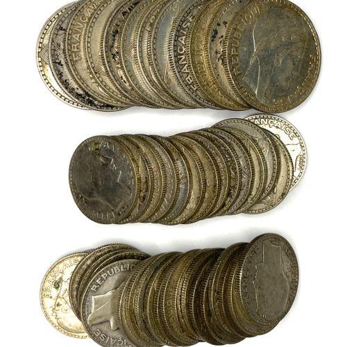 France – Pierre Turin  Important lot de 10 Francs (x34) et 20 Francs (x12) Turin…