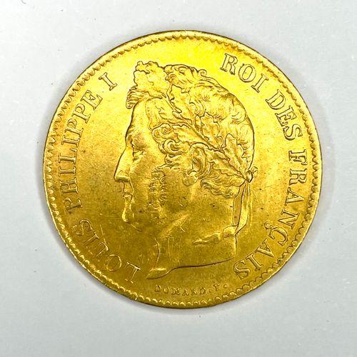 法国 路易 菲利普一世(1830 1848)  1833年A型40法郎硬币(巴黎)。  A : 路易 菲利普一世的桂冠头像在左边  R: 开放式月桂花环  状态…