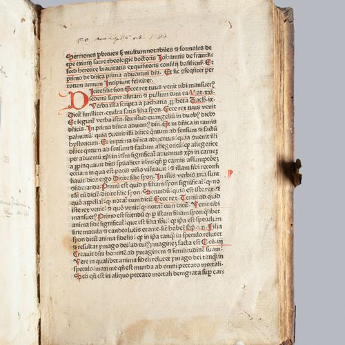 JOHANNES DE FRANKFORDIA. Sermones. S.L.N.D. [Ulm, Conrad Dinckmut, vers 1478]. I…