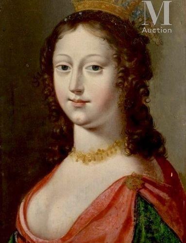 JEAN DUCAYER (Actif vers 1635) Portrait de femme  Panneau  36 x 26,5 cm    Porte…