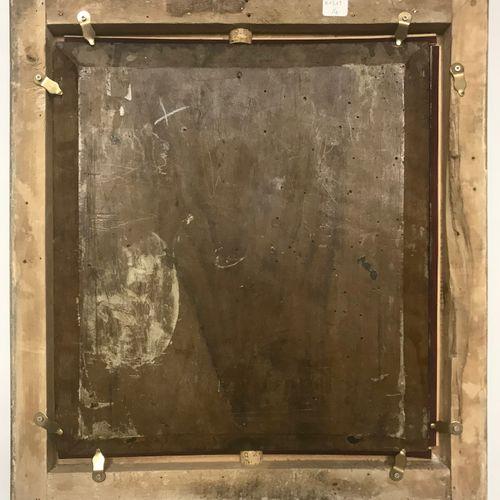 ECOLE FRANCAISE DU XIXème siècle CAIN ET ABEL  Panneau 37 x 33,5 cm