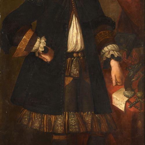 *ATTRIBUÉ À GIOVANNI BERNARDO CARBONE (1614 1683) PORTRAIT D'HOMME TENANT UNE LE…