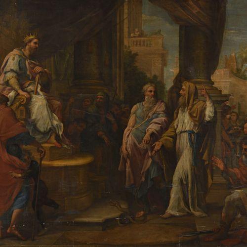 *GIUSEPPE BARTOLOMEO CHIARI (1654 1727) MOÏSE TRANSFORME EN  SERPENT LA VERGE D'…
