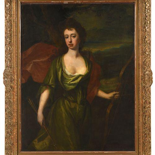 *ATTRIBUÉ À MICHAEL DAHL (1659 1743) PORTRAIT DE DAME EN DIANE  Toile  125 x 95 …