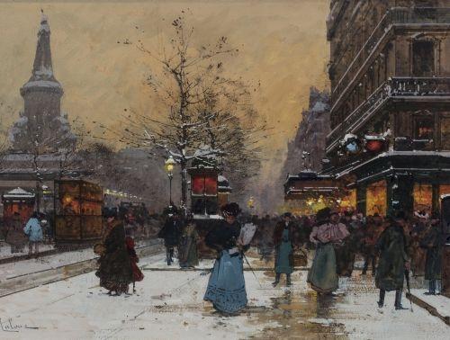 Eugène GALIEN LALOUE (Paris 1854 Chérence 1941) Place de la République sous la n…