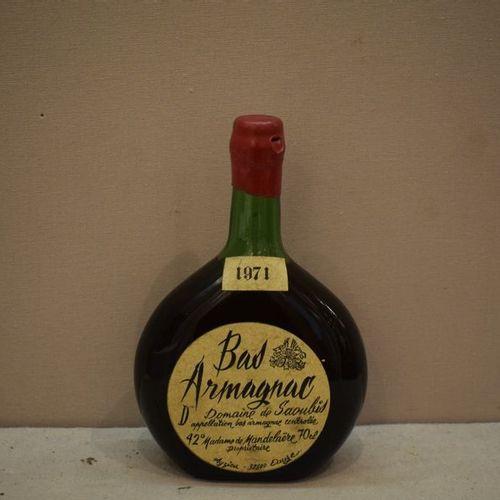 1 bouteille BAS ARMAGNAC Domaine de Saoubis 1971 (LB)