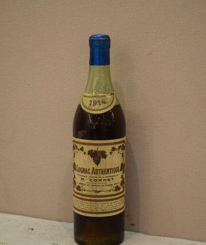 """1 bouteille COGNAC """"Authentique"""", M. Cornet 1914 (ela, B)"""