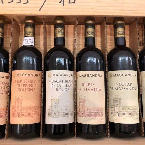 Ensemble de 6 bouteilles Massandra, (rare assortiment : 2 Nectar 2001, 1 Rubis d…