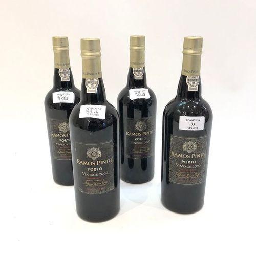 """4 bouteilles PORTO """"Vintage"""", Ramos Pinto 2000"""