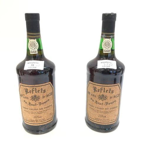 "2 bouteilles PORTO ""reflets du haut douro"", Casa del Porto 40 ans"