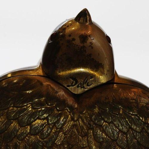 Salvador DALI 1904 1989  Bird in hand 1951  Powder pot in golden brass  comprisi…