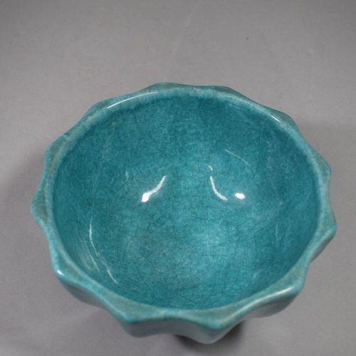 Alice SORDET BONIFAS (1902 1975)    Deux grands bols côtelés, céramique émaillée…