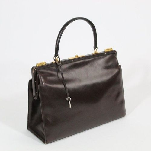 HERMES HERMES PARIS  Doctor bag in brown leather, the leather interior includes …