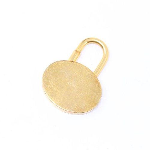 "HERMES HERMES  ""Charms"" or fancy gold metal padlock  Registered ""HERMES 2003 / M…"