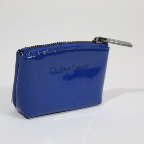 Christian LACROIX Christian LACROIX  Petite pochette en plastique bleu, ouvertur…