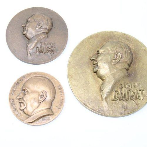 DAURAT Didier (1891 1969)  3 bronze medals  Obverse: bust in left profile. Inscr…