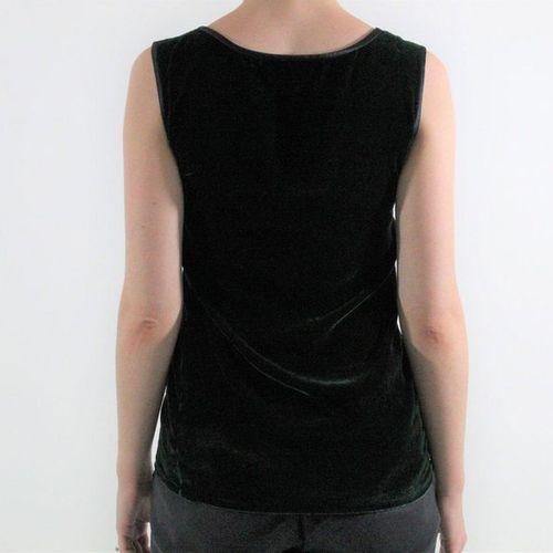 Yves Saint LAURENT YVES SAINT LAURENT Left bank  Sleeveless top in fir velvet.  …