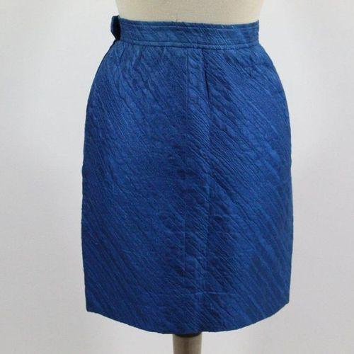 Yves Saint LAURENT YVES SAINT LAURENT Left Bank  Skirt with blue relief embellis…