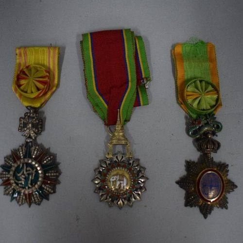 Set of three medals:  Order of the White Elephant, Thailand (Siam)  Order of the…