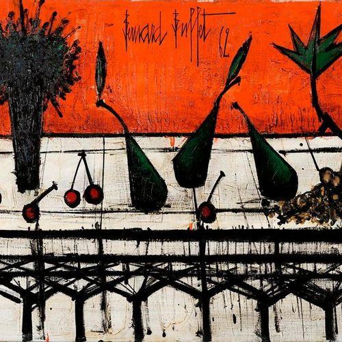 Bernard Buffet Bernard BUFFET, 1928 1999  Still life with bouquet, 1962  oil on …