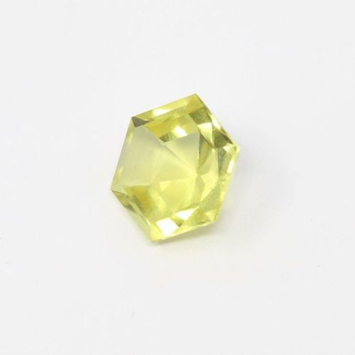 Octagonal citrine on paper.  Weight: approx. 16.30 cts.