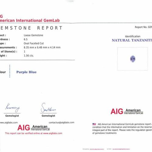 Oval Tanzanite on paper.  Each accompanied by an AIG certificate dated 07/11/20.…