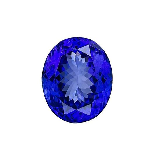 Oval Tanzanite on paper. Accompanied by a GIA certificate dated 31/07/2020. Weig…