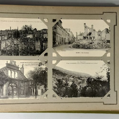 Two albums of postcards, CPA (mostly Cher: including small villages and a few an…