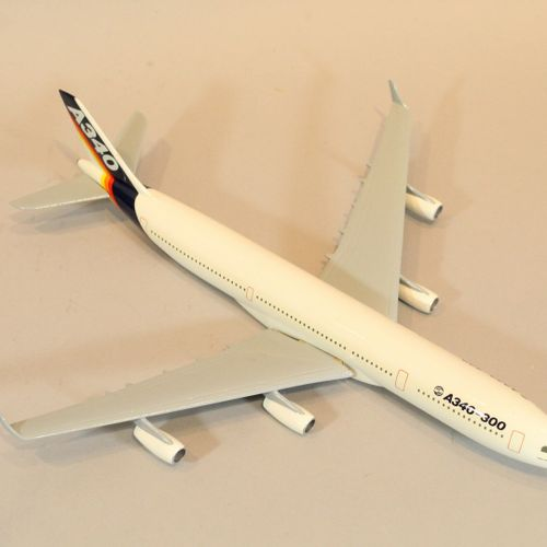 AEROSPATIALE AIRBUS  Model of the A340 aircraft at 1/200th in the colours of Air…