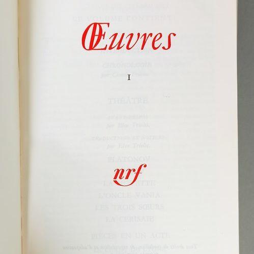 PLEIAD LIBRARY  CZECHOSLOV Anton 2 vol. : works. Bibliothèque de la Pléiade, Par…