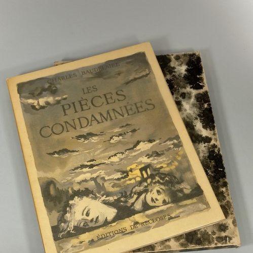 Three works in boxes:  BAUDELAIRE Charles, les pièces condamnées, ed° de Reclose…