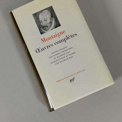 PLEIAD LIBRARY  MONTAIGNE Michel (de) 1 vol. : Complete works. Bibliothèque de l…