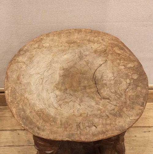 Ceremonial stool  Nigeria  Wood  H. 64 cm, D. 43 cm