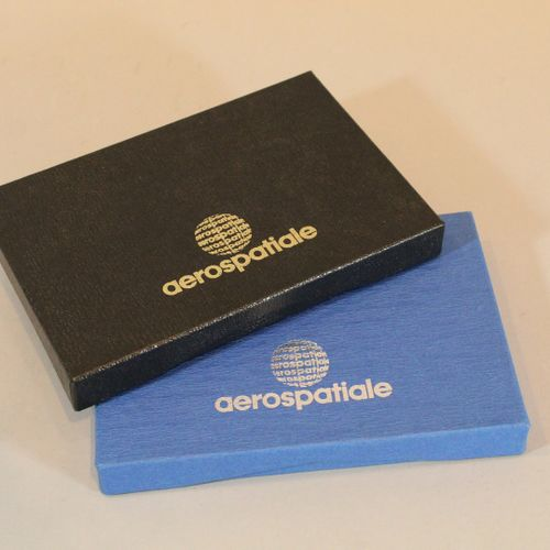 AEROSPATIALE  Two boxes of the company's pine trees:   Nine in cloisonné enamels…