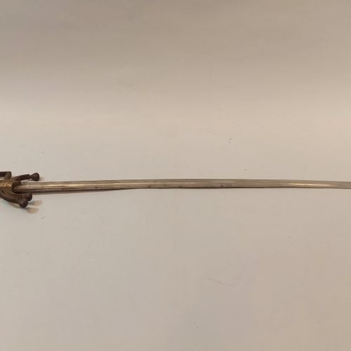 Nice ceremonial nimchah. Horn hilt with iron guard branch and iron cruise inlaid…