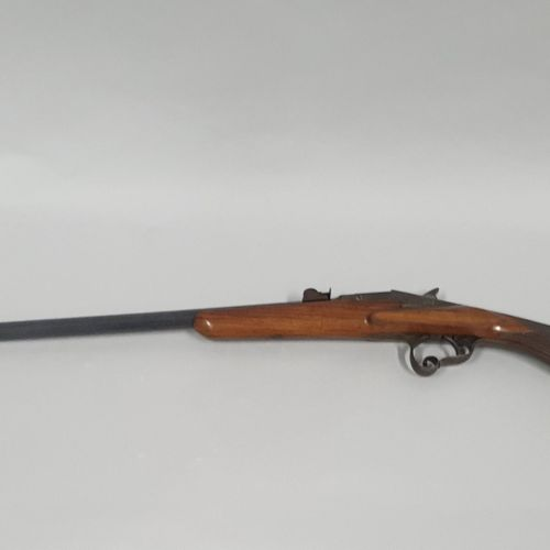 Warnant system parlor rifle. Cal 6 mm. Scroll trigger guard.  TB.