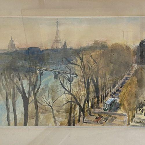CLAIRIN Pierre Eugène, 1897 1980  Paris, 1950  watercolor (light sunshine), sign…