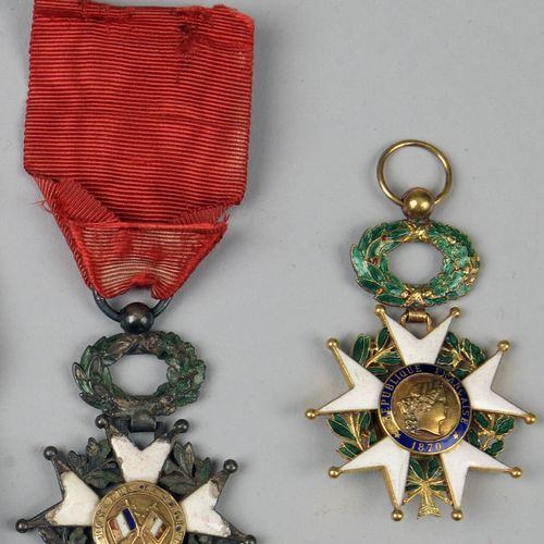 Gold officer's cross of the Legion of Honour.  Damage to the enamel on the obver…
