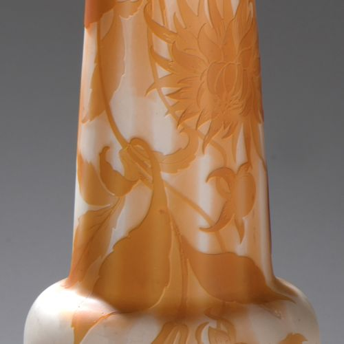 ETABLISSEMENTS GALLE (1904 1936)  Vase with a slightly conical ovoid body and a …