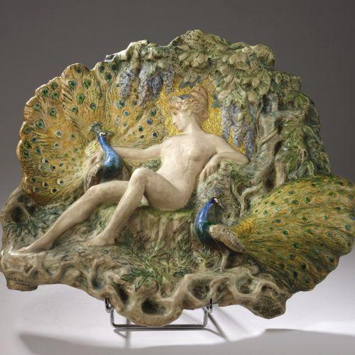 Edmond LACHENAL(1855 1948) & J. COSTET  Juno  Decorative motif in ceramic decora…