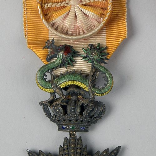 Officer's Star of the Order of the Dragon of Annam  Vermeil  BE  Gross weight: 3…