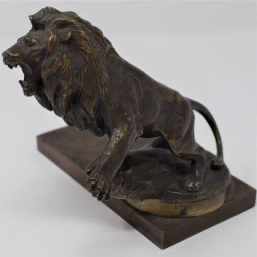 Maurice Roger MARX (1872 1956)  Lion, mascot of Peugeot  Radiator cap in bronze …