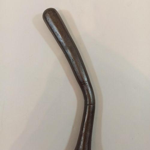 Canne matraque tout acier gravé,  Long.: 33 cm