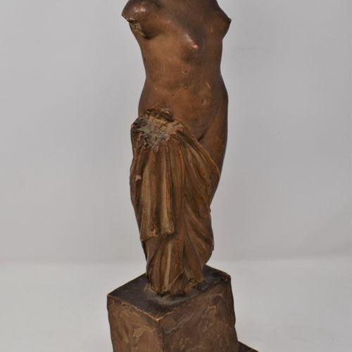 Emmanuel André CAVACOS (1885 12976)  Vers 1930,Vénus drapée.  Épreuve en plâtre …