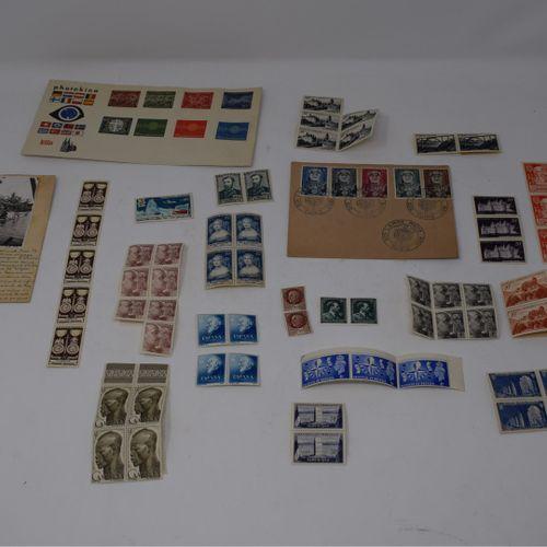 Timbres neufs France, Allemagne et petit lot de timbres divers et documents post…