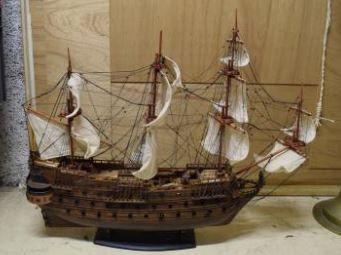 Maquette de vaisseau, travail moderne