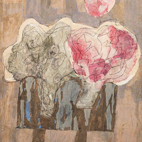 KOPAC Slavko, 1913 1995  Fleurs sur la table, 1975  technique mixte et collage s…