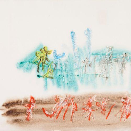 MICHAUX Henri, 1899 1984  Sans titre coloré, 1964  aquarelle sur papier Arches (…