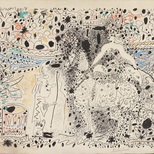 PICASSO Pablo, 1881 1973  L'Ecuyère, Cannes, 21.4.60.  Lithographie en noir sur …